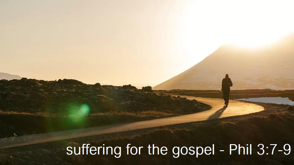 Suffering for the gospel